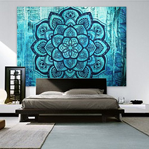 Jiamingyang Popular Indian Wall Hanging Elephant Flower Tapestry Psychedelic Bohemian Tapestries (Large/80