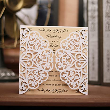 image relating to Printable Invitation Card Stock named : Laser Lower Invitation Playing cards 50 Pack Sq.