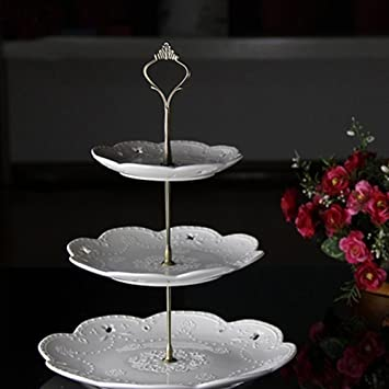 3 Tier Hardware Crown Cake Plate Stand Cupcake Dessert Display Stand Handle for Wedding Party Table & Amazon.com | 3 Tier Hardware Crown Cake Plate Stand Cupcake Dessert ...