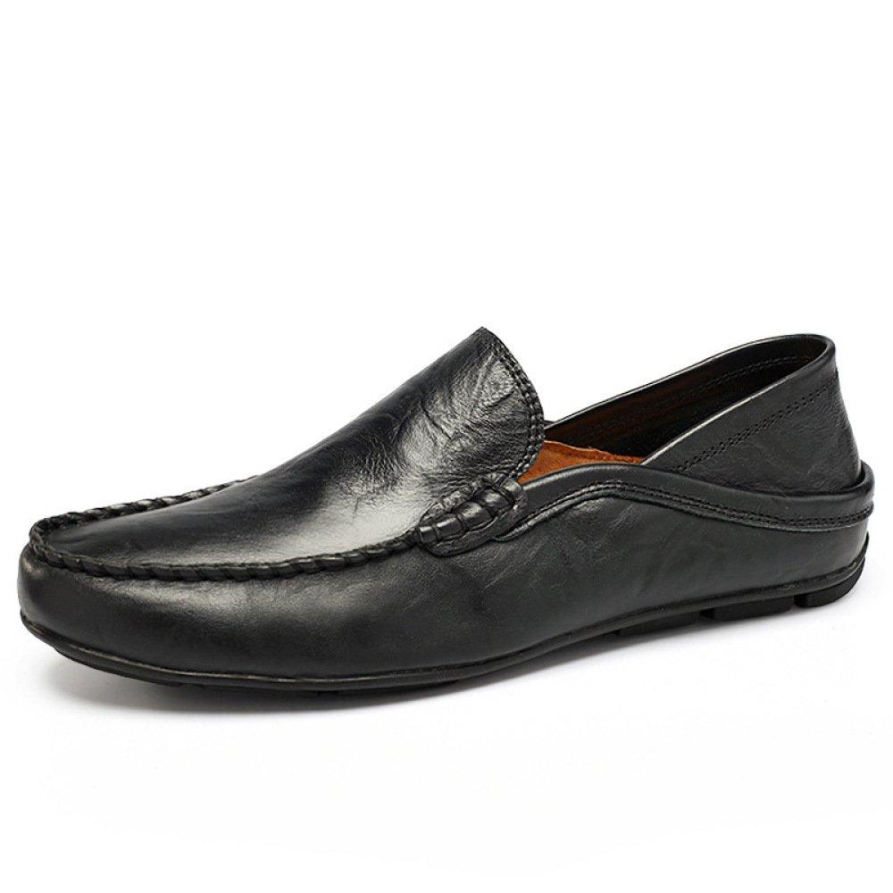 Zapatos Casuales para Hombre Zapatos De Verano Respirable para Hombres Slip-On Wild 40 EU|Black