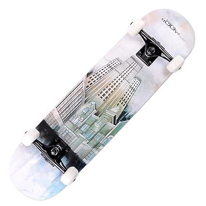 Skate madera de arce profesional adulto/Doble-para arriba patines/ cepillo carretera calle