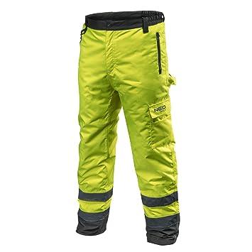 Warnschutzhose mit Reflektionsstreifen orange neon gelb Arbeitshose Warnschutz