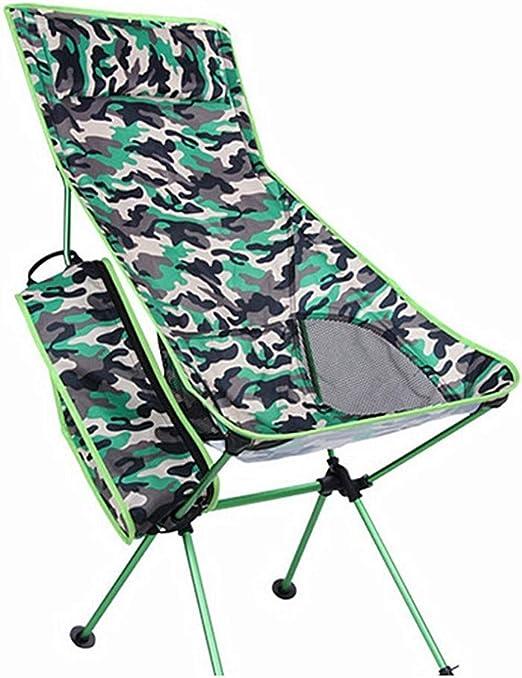 LMDY Silla de Playa/Camping Plegable Silla de Camping portátil con ...