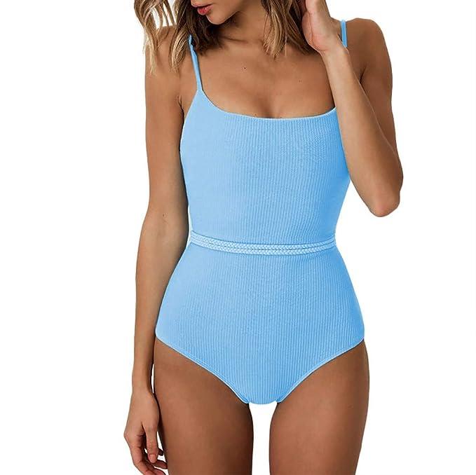 Damen One Piece Monkini Cut Out Leopard Badeanzug Badekleidung Schwimm Bikini DE