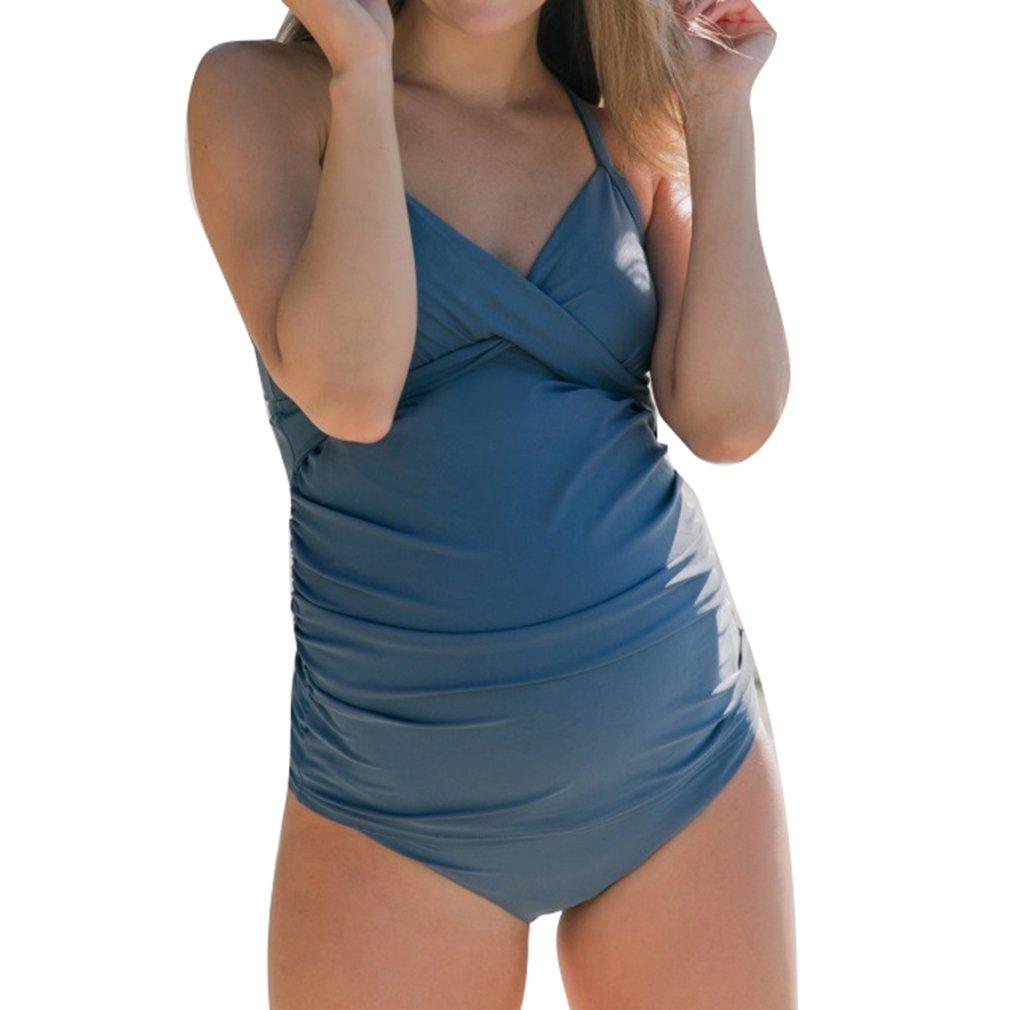 Gagacity Mutterschaft Tankinis Frauen Wesentliche Bikinis Badeanzug Beachwear Schwangere Einteilige Anzug
