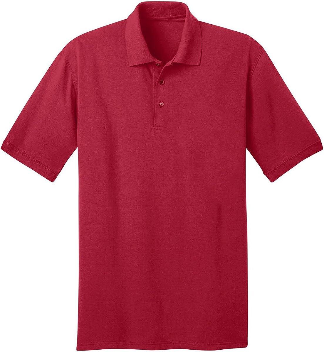 Port /& Comapany Mens Big and Tall Knit Polo Jersey