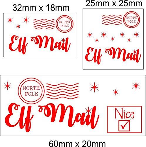 50 x correo de elfo polo norte Navidad pegatinas etiquetas regalos ...