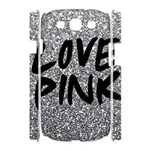 Wlicke Love Pink High Quality Durable samsung galaxy s3 i9300 3D Case, Personalised Protective Cover Case for samsung galaxy s3 i9300 with Love Pink