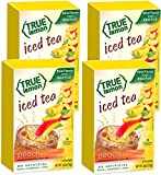 PEACH ICED TEA MIX by TRUE LEMON | Instant Powdered Drink Packets That Quench YOUR Thirst, Kit Includes 4 Boxes of Mouth Watering True Citrus PEACH (ICED TEA)
