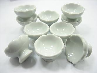 10x25 mm Pink Bowls Dollhouse Miniatures Ceramic Food Supply Deco