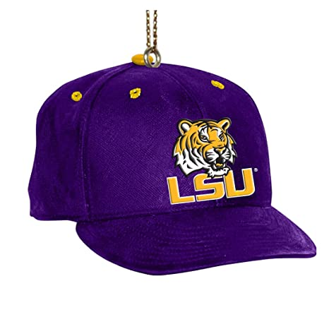 Amazon.com   NCAA LSU Fightin Tigers Baseball Cap Ornament   Sports ... 3848f32c011