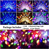 Bluetooth Disco Ball Lights, 9 Colors LED Party