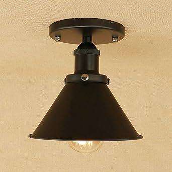 Luz de techo Ronda Lámpara de techo Retro Diseño industrial ...