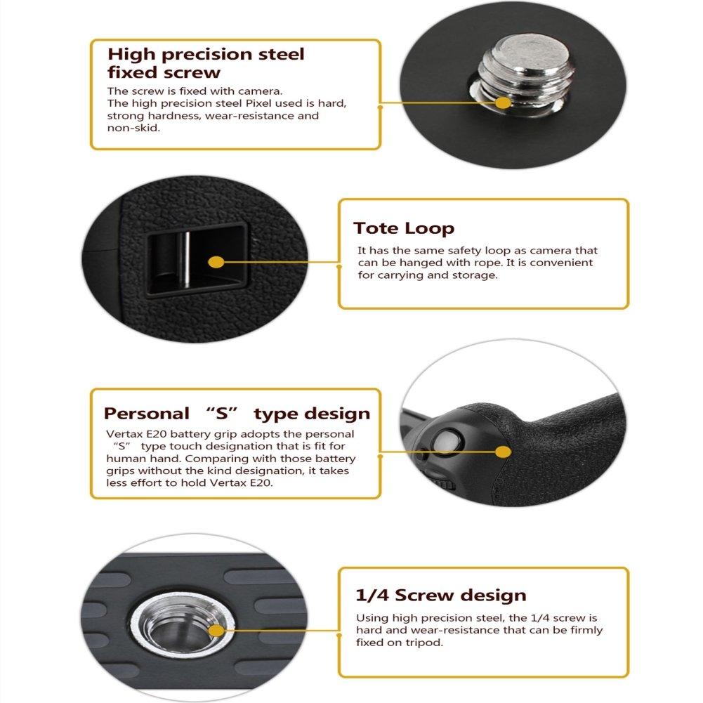 Pixel E8 Battery Grip For Canon 700d 650d 600d Camera Batre Lp Untuk Tipe Kamera Eos 550d Photo
