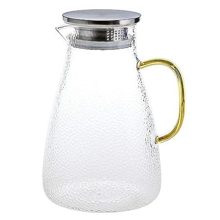 Jarra de Agua Cristal 2 litros Agua Jarra Botella de Cristal ...