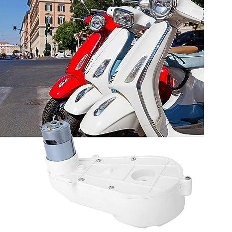 Getriebemotor 12 V Toy White Electric Rs550 Motor Getriebe Für Kinderwagen Atv Motorrad Auto Atv Karting Ferngesteuertes Auto Und Motorräder 550 18000rpm Gewerbe Industrie Wissenschaft