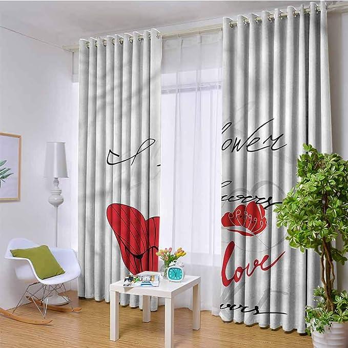 CostomDIY-drapes - Cortina Aislante para Puerta corredera de Sala de Estar, diseño de Amapolas: Amazon.es: Hogar