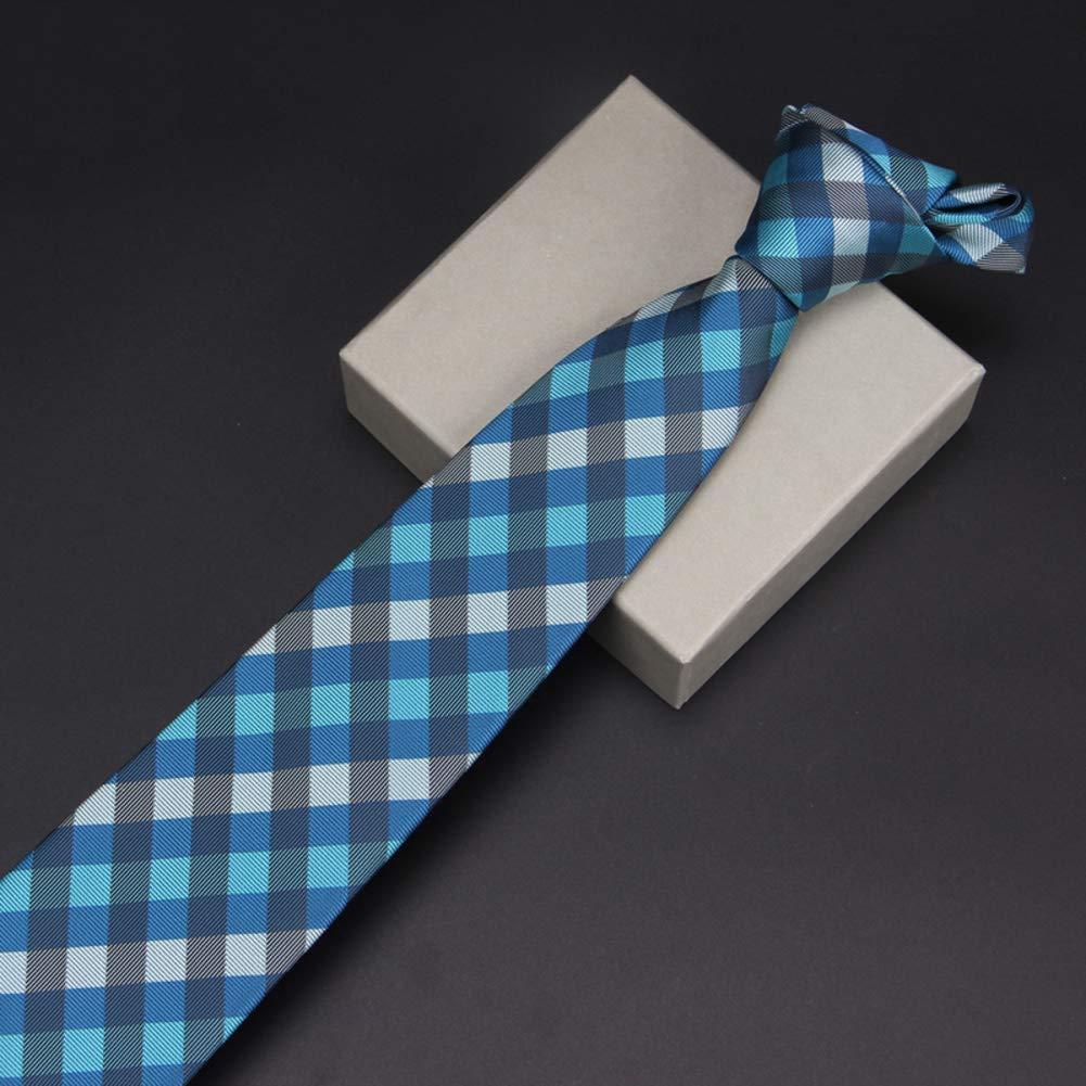 Gift Box PyBle Classic Tie Necktie Plaid Neck Ties for Mens Necktie Wedding Ties