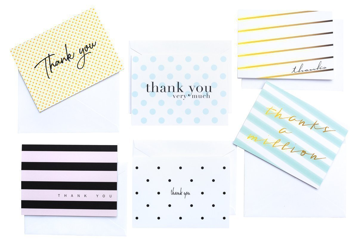 modern chic thank you cards by luxye