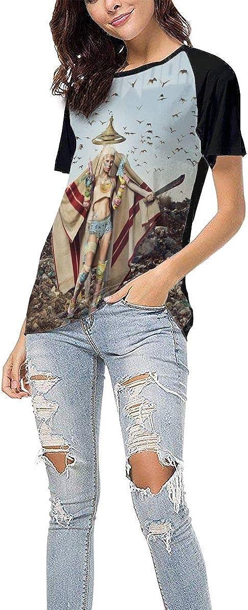 Die Antwoord Mount Ninji and Da Nice Time Kid Womans Baseball Short Sleeves T Shirt Stylish Round Neck Shirts