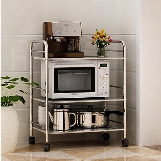 Pasamanos Muebles Cocina de acero inoxidable Tres capas Estante ...