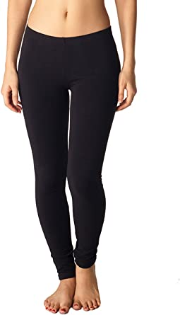 New Woman Cotton Soft  Spandex Basic Leggings S-XL Made in USA