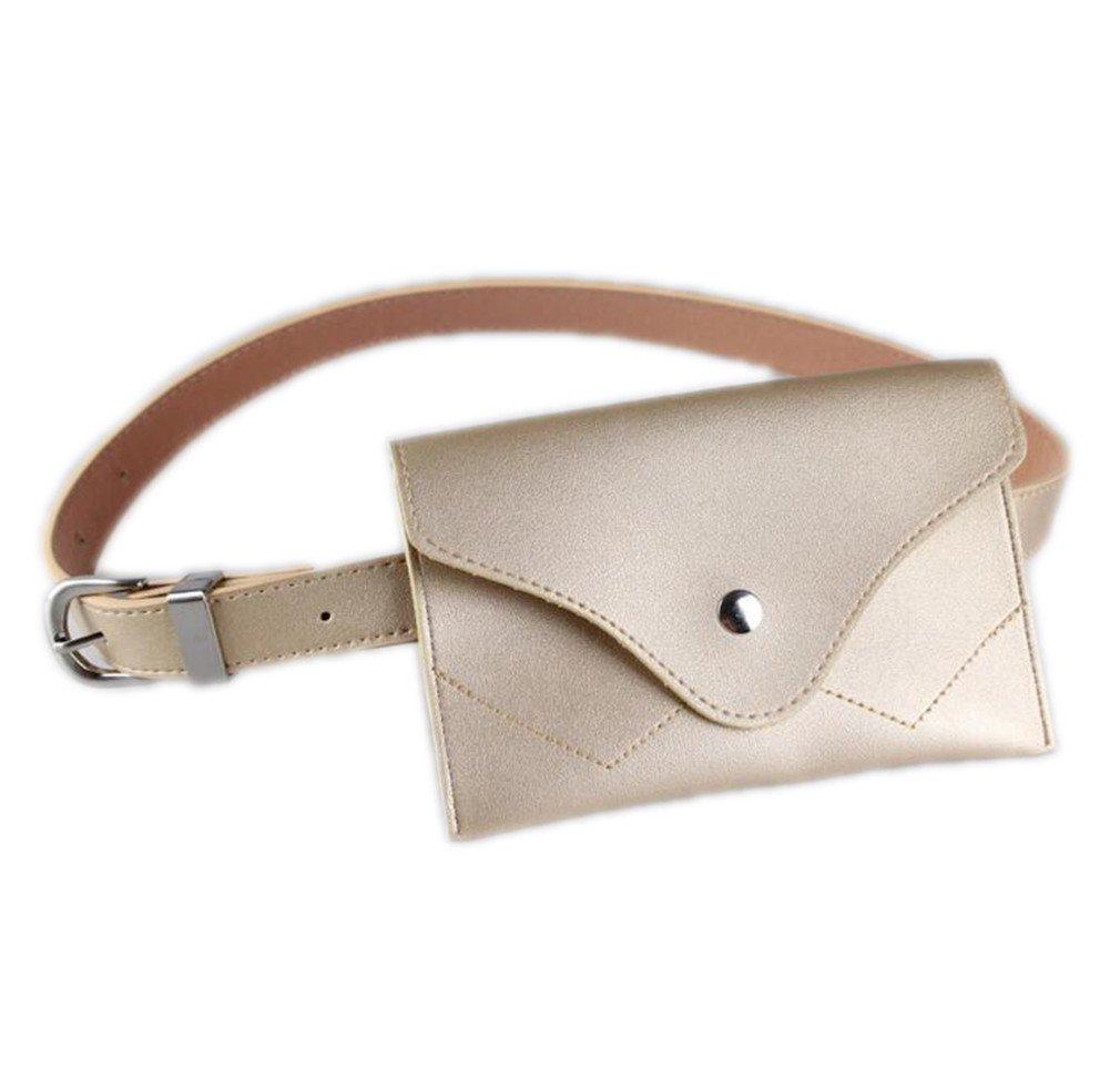 XUEERBAO New Women Waist Bag Multifunction Women Bag Fashion L Small Belt Handbag gold