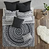 Urban Habitat Larisa 7 Piece Cotton Coverlet Set Black King/Cal King