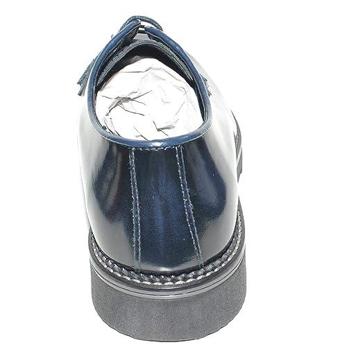 Scarpe Uomo Stringate Liscio Abrasivato Blu Made in Italy Fondo Antiscivolo  Comfort Man Business Classico Sportivo  Amazon.it  Scarpe e borse c47e775519c