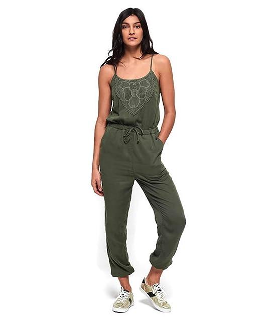 b3c18fd5661ce5 Superdry Women's Jumpsuit Green Khaki: Amazon.co.uk: Clothing
