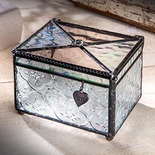 Vintage Glass Trinket Box - 6