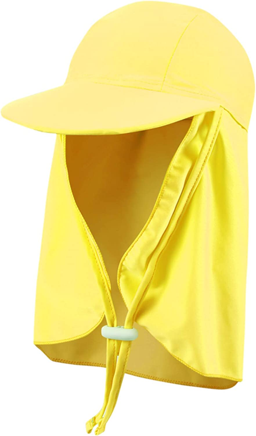 LLmoway Kids Sun Protection Hat with Neck Flaps Girls Quick Dry Beach Play Hat