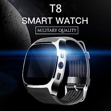 Amazon.com: T8 Reloj Inteligente Bluetooth, visualización ...