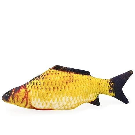 Lamzoom Juguete para Gatos Forma de pez, Juguete de Algodón para Mascota, Juguete para