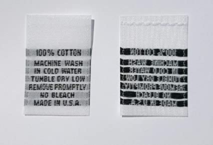 Woven Labels Care Instructions Tag Sew In Woven Label for Clothes LOOK AFTER ME Quilts