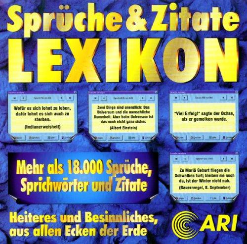 Sprüche Und Zitate Lexikon Amazonde Software