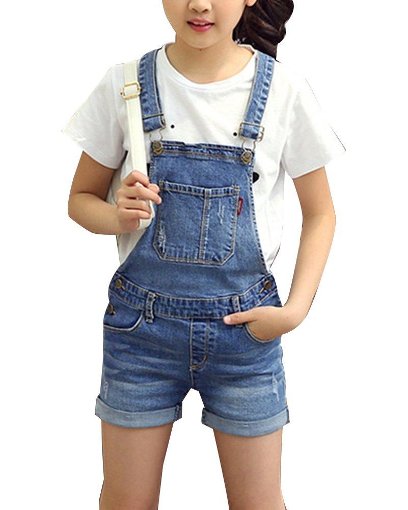 GladiolusA Bambine Salopette Corta Jeans Ragazze Salopette Pantaloncini Denim Jeans Shorts Overall Jumpsuit Monopezzi