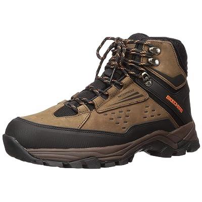 Skechers Men's POLANO-Norwood Waterproof Hiker Hiking Boot, Brown, 7 Medium US | Hiking Boots