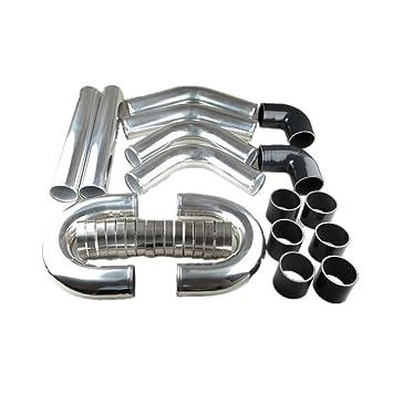 AdlerSpeed Kit de fijación de tubos de aluminio universal para intercooler Turbo - Envío Reino Unido: Amazon.es: Coche y moto