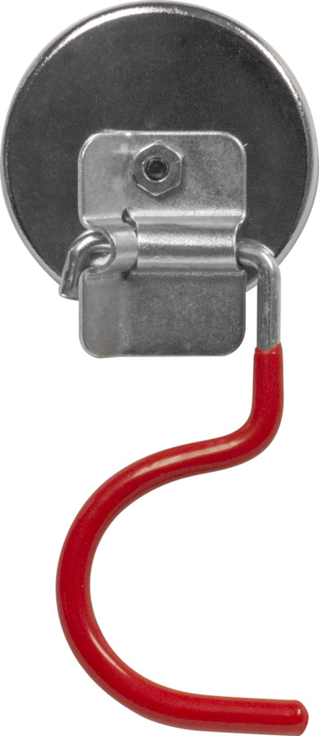 MAG-MATE MX2000RV01 Cup Magnet with Red Vinyl Broom Holder Hook, 19 lb