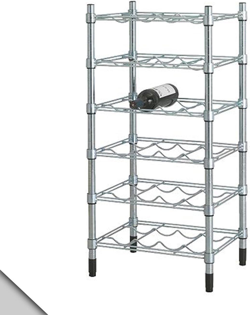 IKEA - Estante de vino OMAR galvanizado: Amazon.es: Hogar