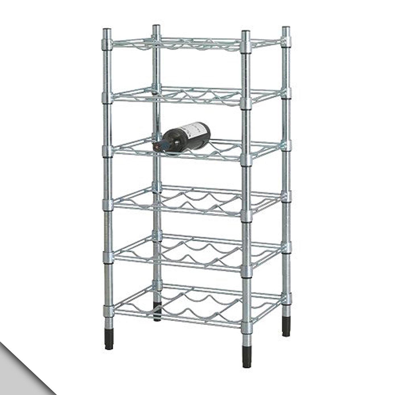 Amazon.com: IKEA - OMAR Wine shelf, galvanized: Kitchen & Dining