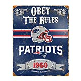 Party Animal NFL Embossed Metal Vintage New England Patriots Sign