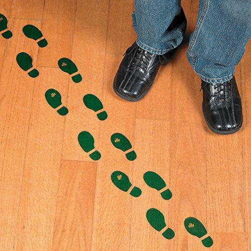 Leprechaun Footprint Floor Decals (16 Pairs) St. Patrick's Day Party (Leprechaun Pot)