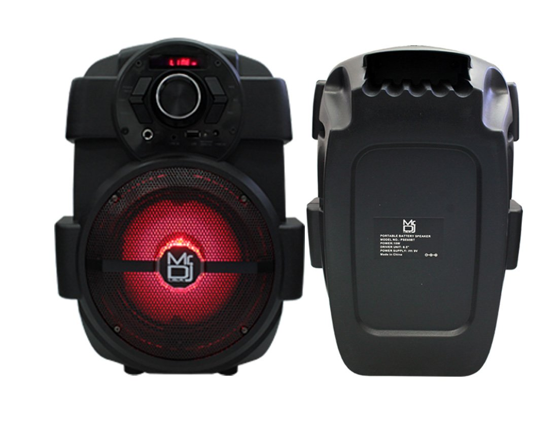 Mr. Dj PSE65BT 6.5'' Portable Active Speaker with Rechargeable Battery 1000W P.M.P.O, 1'' by Mr. Dj (Image #7)