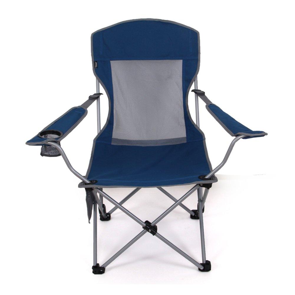 HM&DX Transportabel Camping Klappstuhl Außen,Kompakt Campingstühle Liege Verstellbar Strandstuhl mit Becherhalter Sessel Faltbare Stühle Für Camping Wandern Strand Angeln Garten