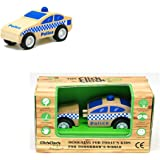 致暖Warmest 儿童拆装车组合小车模型惯性木质宝宝拼装玩具出口玩具益智早教汽车模型迷你汽车模型 (警车)
