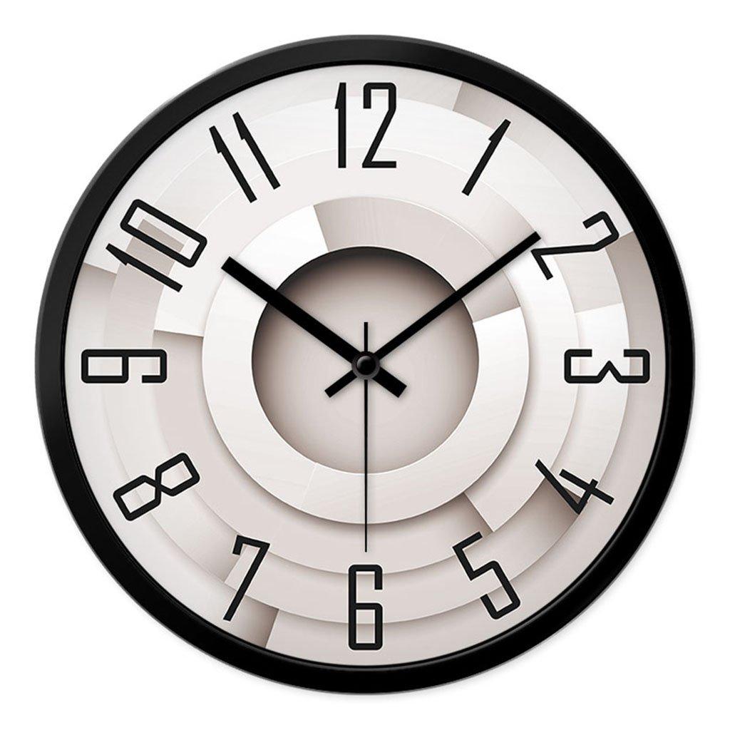 SX-ZZJ  Wanduhren Wanduhr Persönlichkeit Mode Wohnzimmer Schlafzimmer Kreative Moderne Minimalistische Stumm Große Uhr Quarzuhr Uhren & Wecker (Farbe   B, größe   30cm)