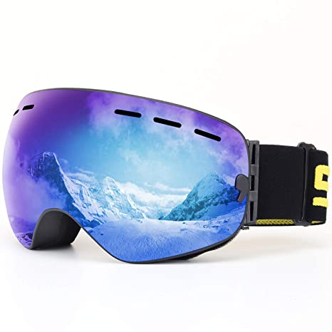 Wide Vision Professional Ski Goggles Eyewear Anti-fog Uv400 Ski Glasses Skiing Snowboard Men Women Ski Goggles Helmet Compatible Complete In Specifications Sports & Entertainment Skiing & Snowboarding