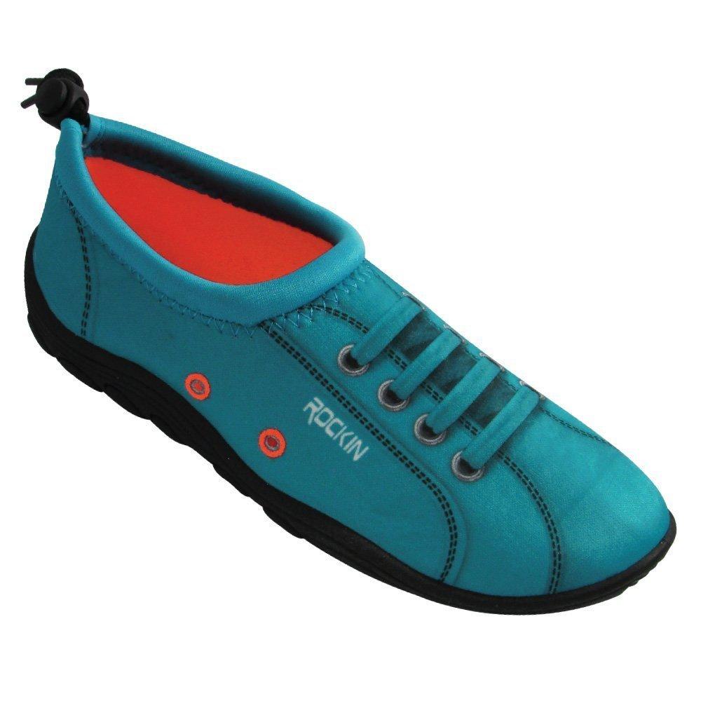 Rockin Footwear Womens Aqua Foot SNEAKS Water Shoes (7, Blue)